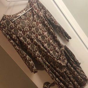 Pretty knit tie waist dress